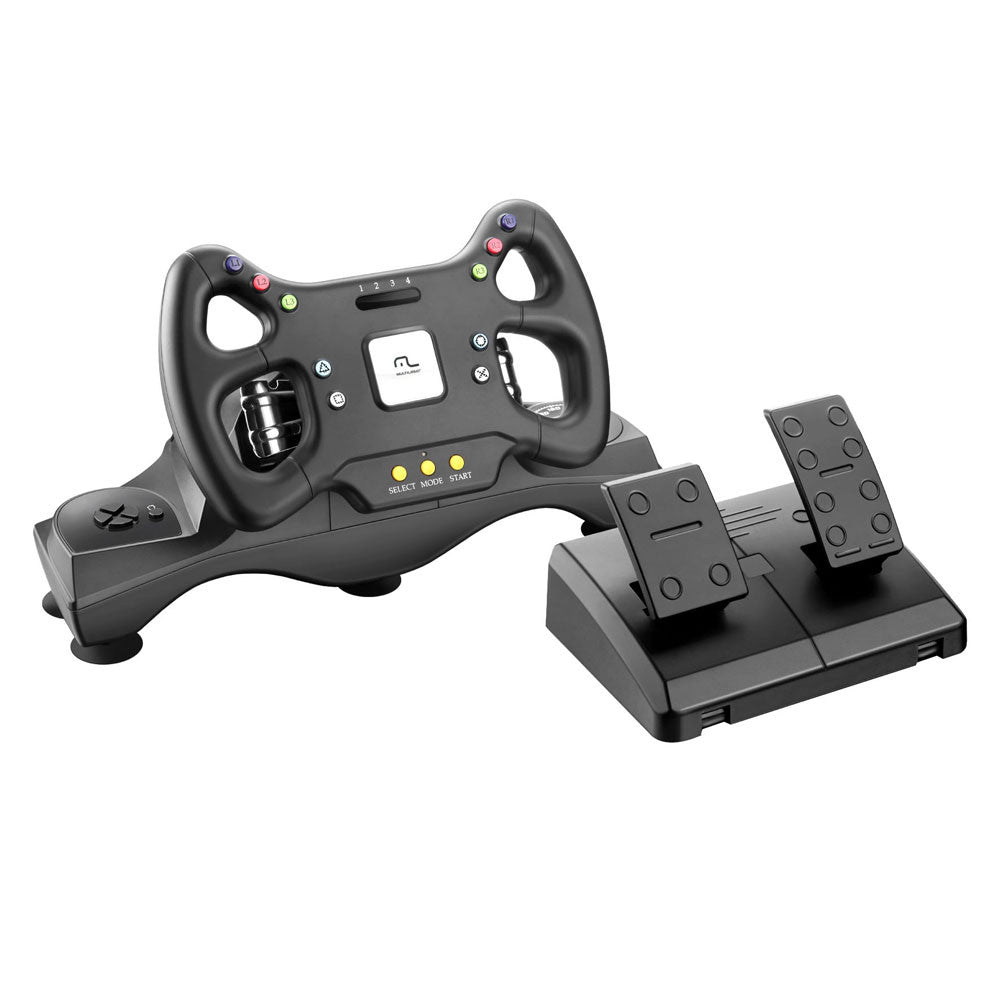 Multilaser Formula Racing Gamepad JS070 with Gear Control, Accelerator & Break Pedals for PS2 PS3 & PC