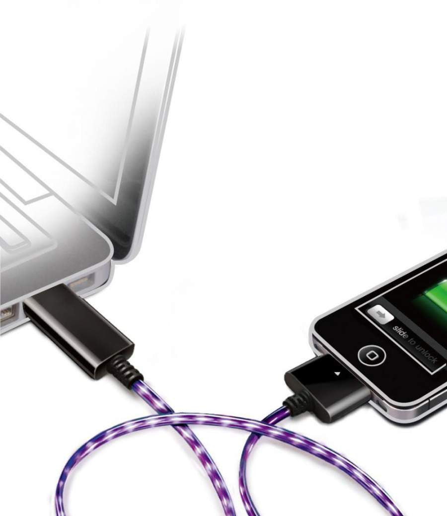 USB Smart Charge & Sync Cable for iPhones 4/4S, iPad & iPod