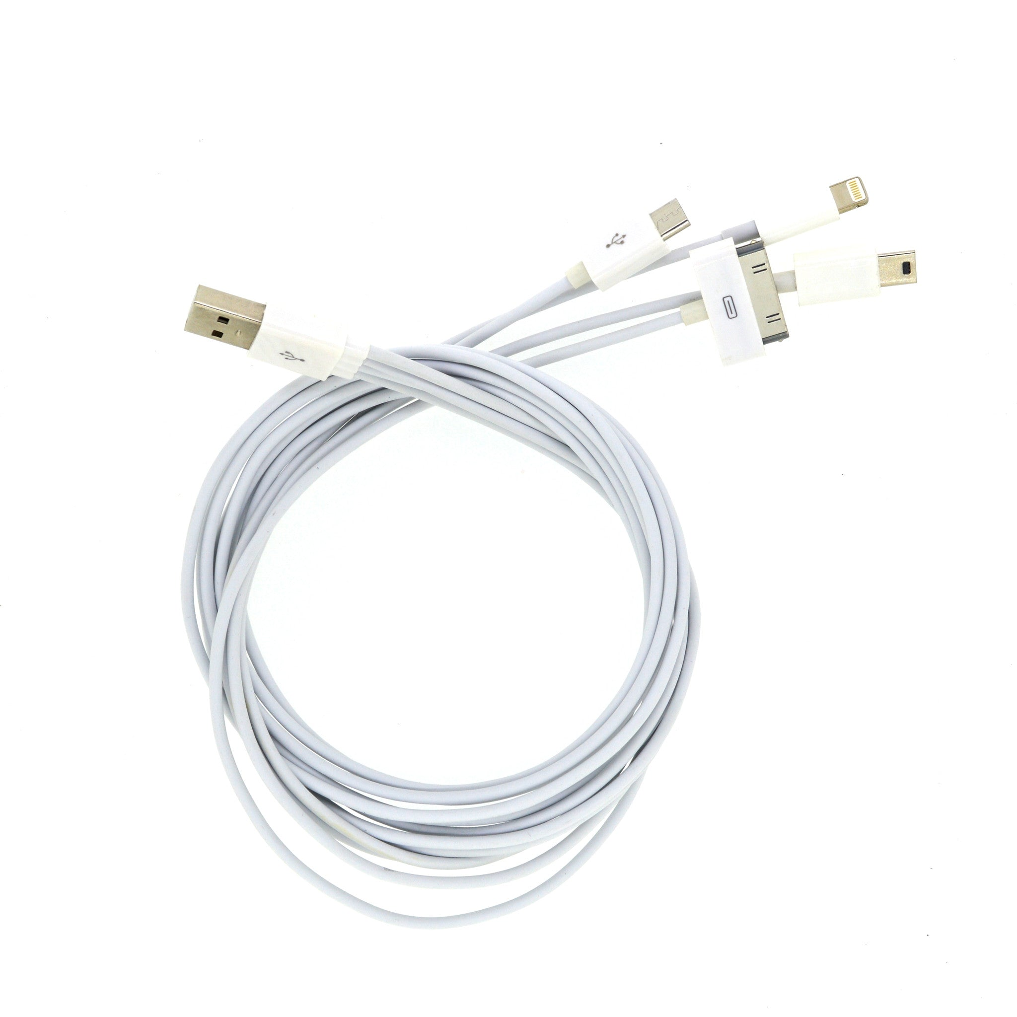 4 in 1 USB Data Cable for Apple & Android - One Meter Long