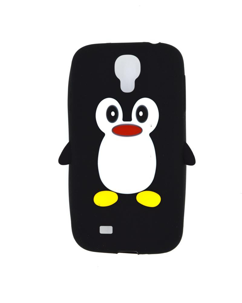 Penguin Silicone Jelly Mobile Cover for Samsung Galaxy S4 i9500-BLACK