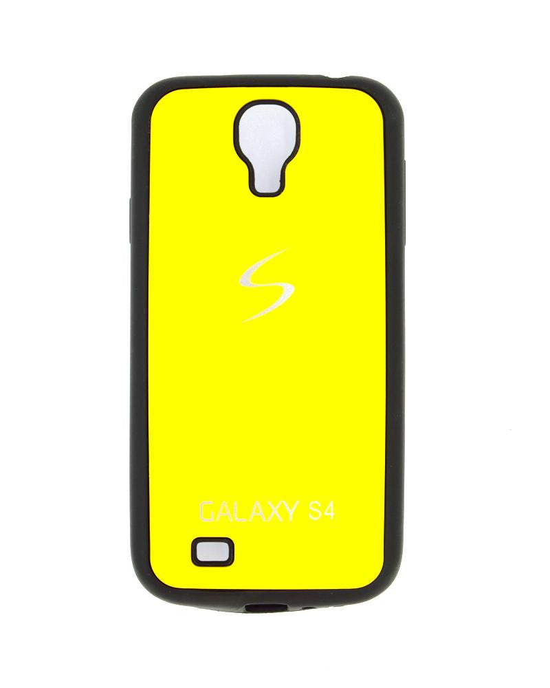 Fashionable Metal Skinned Mobile Cover For Samsung Galaxy S4 i9500-YELLOW