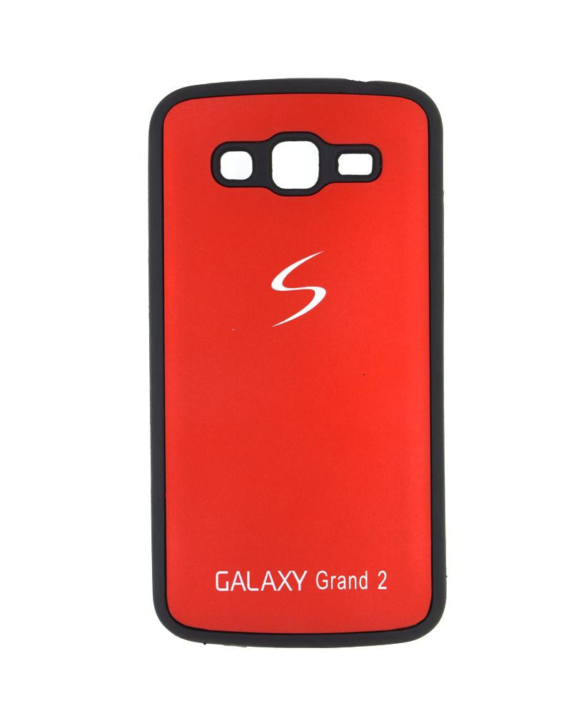 Fashionable Metal Skinned Mobile Cover For Samsung Galaxy Grand 2 Duos-RED