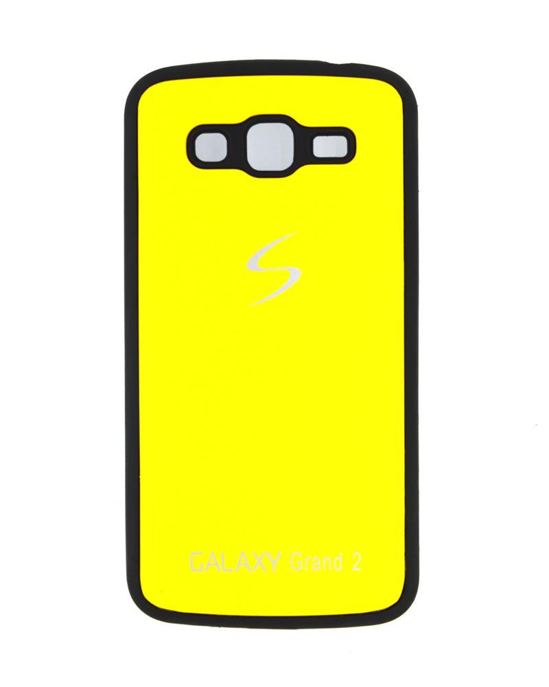 Fashionable Metal Skinned Mobile Cover For Samsung Galaxy Grand 2 Duos-YELLOW