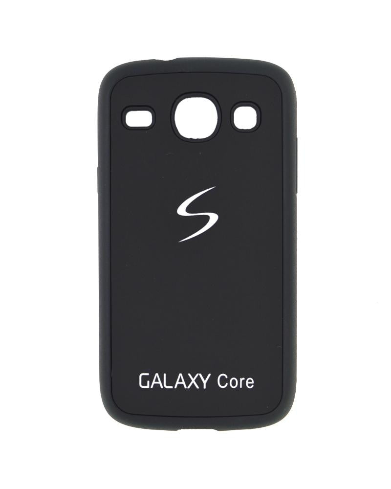 Fashionable Metal Skinned Mobile Cover For Samsung Galaxy Core i8262/i8260-BLACK