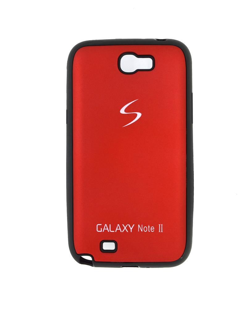 Fashionable Metal Skinned Mobile Cover For Samsung Galaxy Note 2 N7100-RED