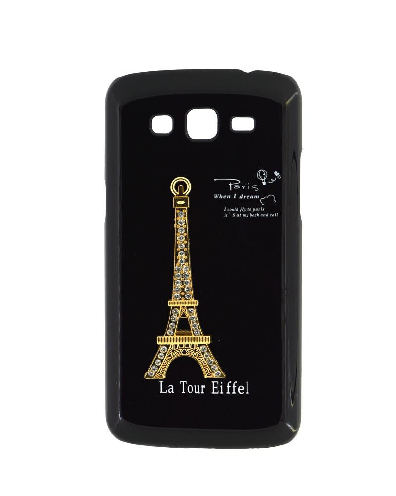 Eiffel Tower Mobile Cover for Samsung Galaxy Grand 2 Duos-BLACK