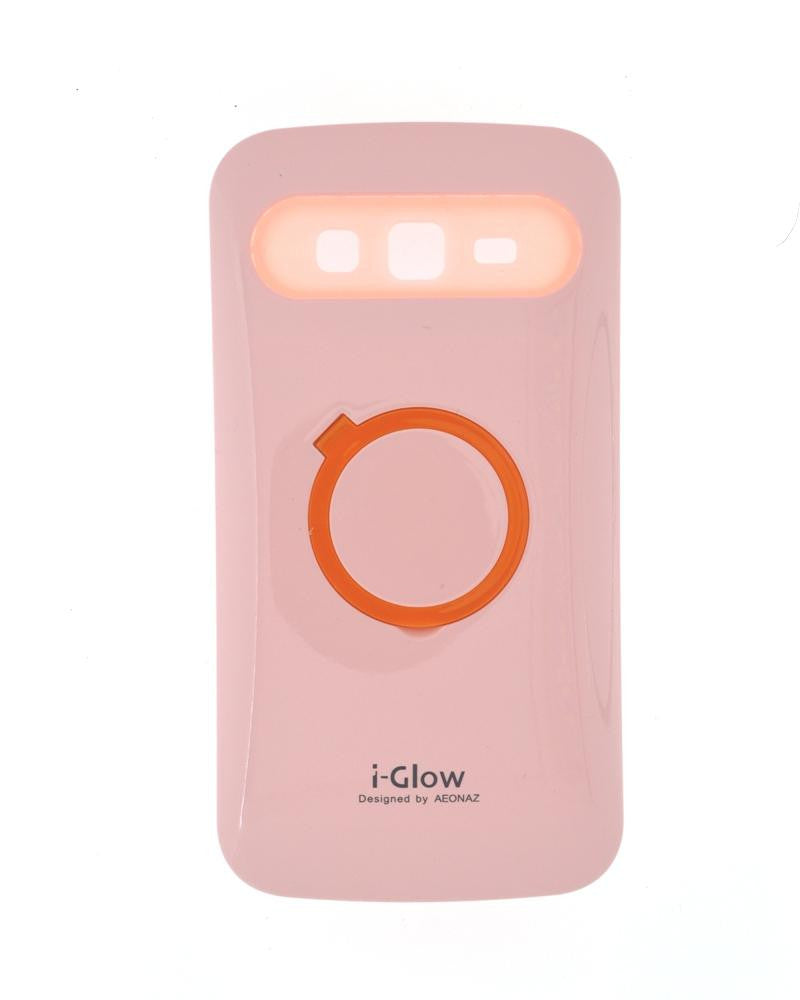 i-Glow Night Glow Mobile Cover For Samsung Galaxy Grand 2 Duos 7106-PINK