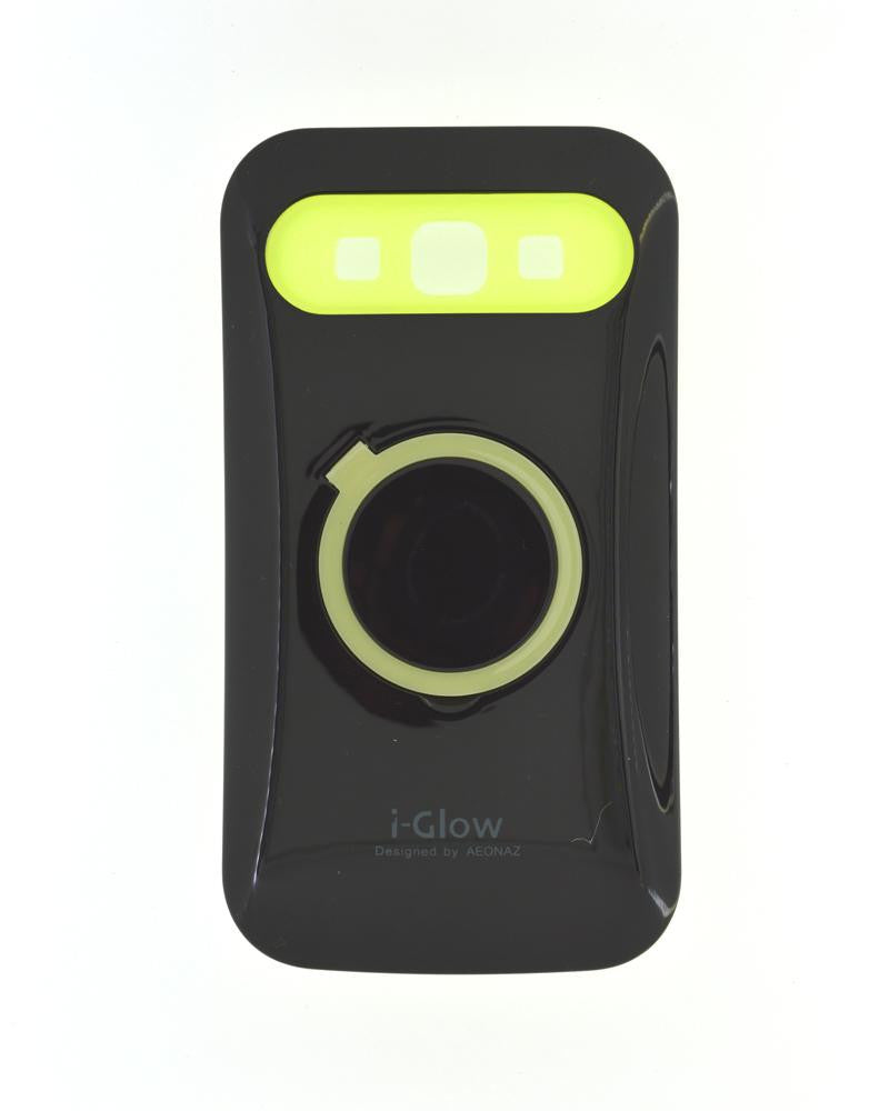 i-Glow Night Glow Mobile Cover for Samsung Galaxy Win i8552-BLACK