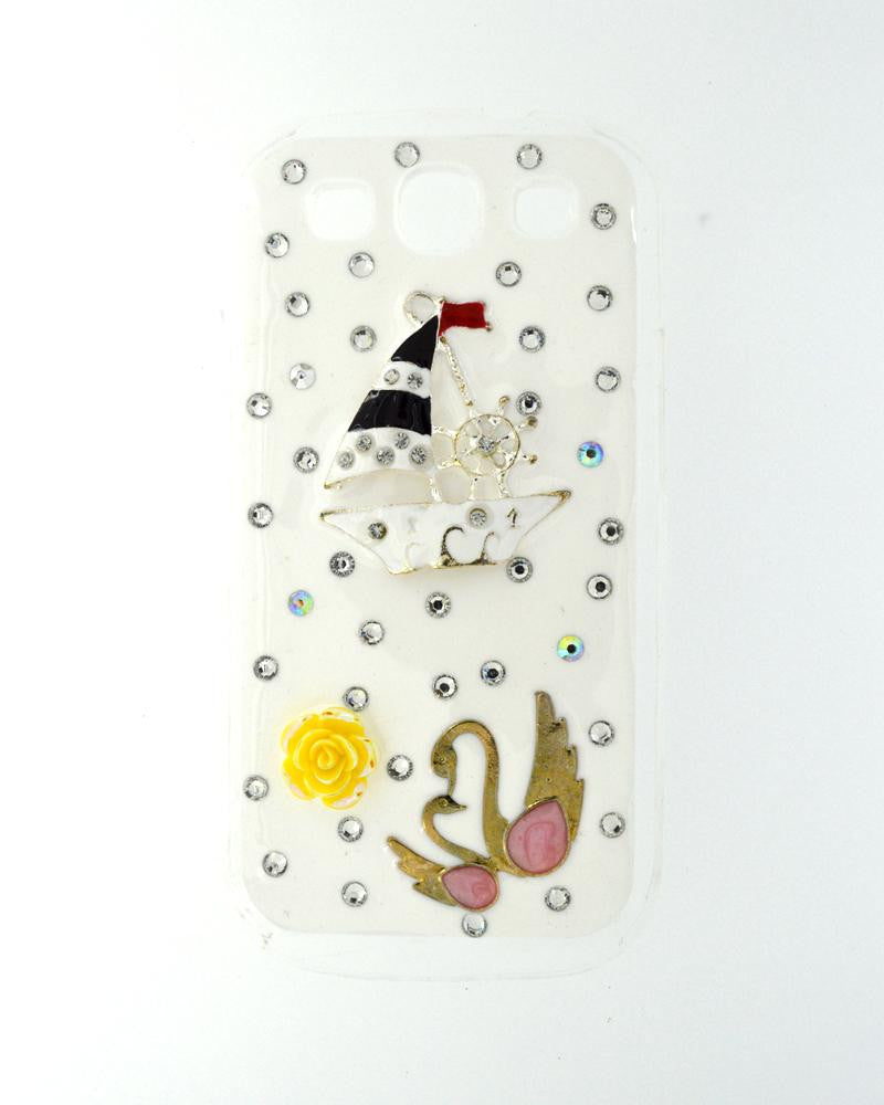 Jewel Design | Swan Boat Glossy Mobile Cover for Samsung Galaxy S3 i9300