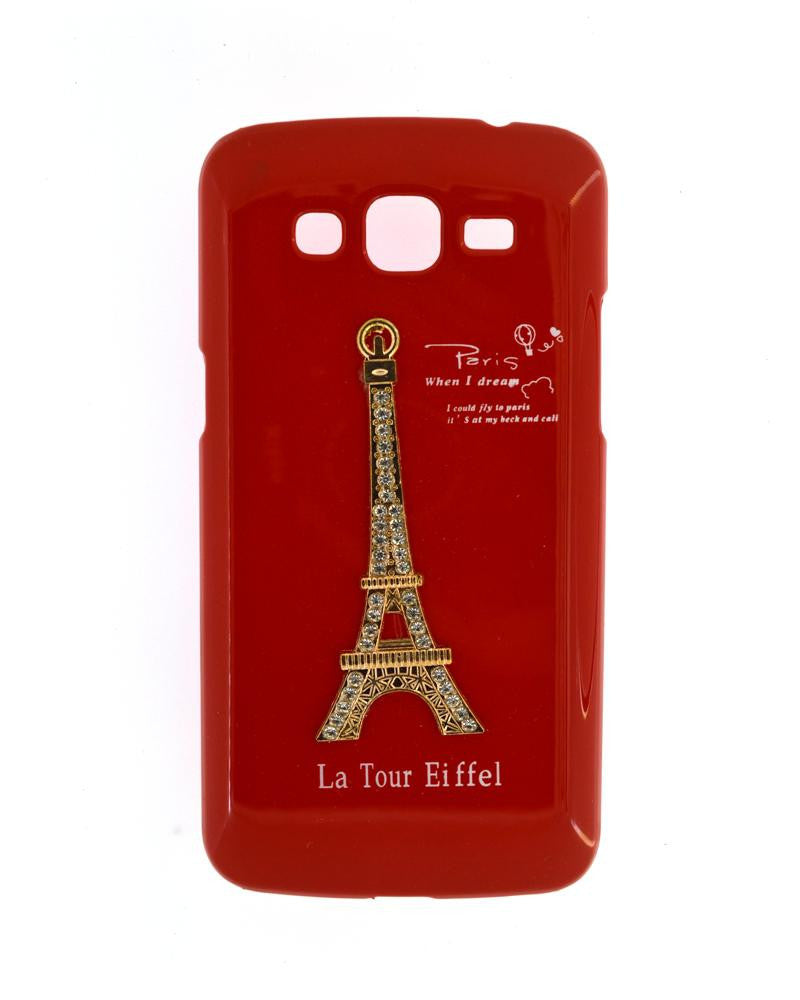 Eiffel Tower Mobile Cover for Samsung Galaxy Grand 2 Duos-RED