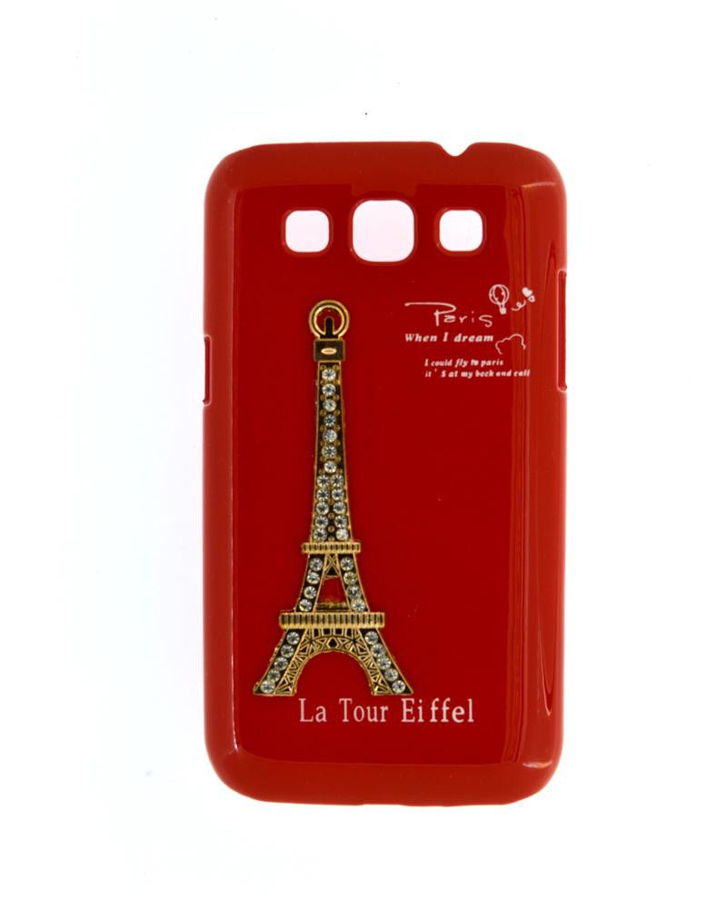 Eiffel Tower Mobile Back Cover for Samsung Galaxy Win i8552-RED