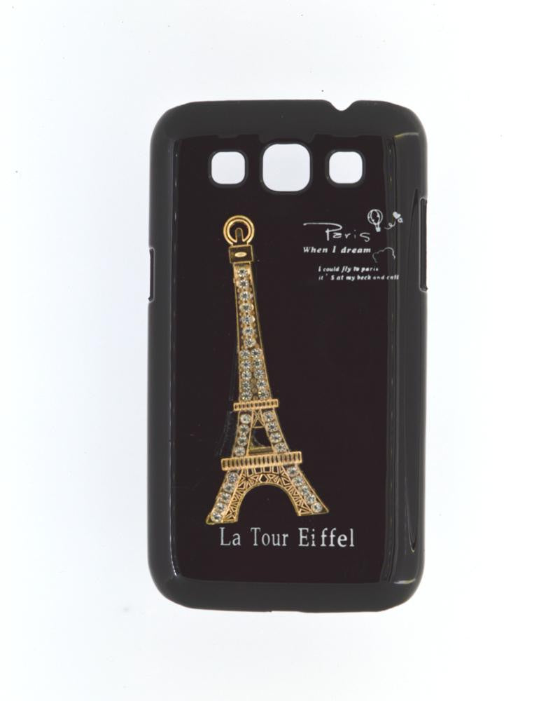 Eiffel Tower Mobile Back Cover for Samsung Galaxy Win i8552-BLACK