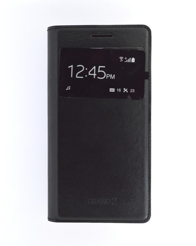 S View Mobile Flip Cover for Samsung Galaxy Grand 2 Duos-BLACK