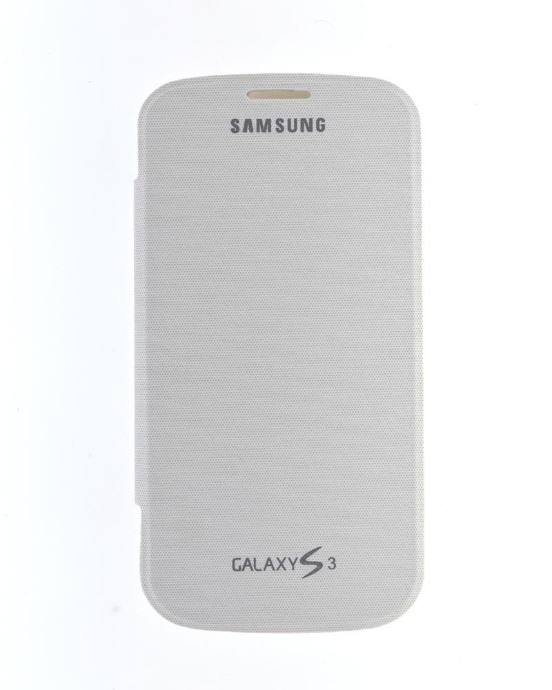 Flip Cover for Samsung Galaxy S3 i9300 with Leather Look-WHITE