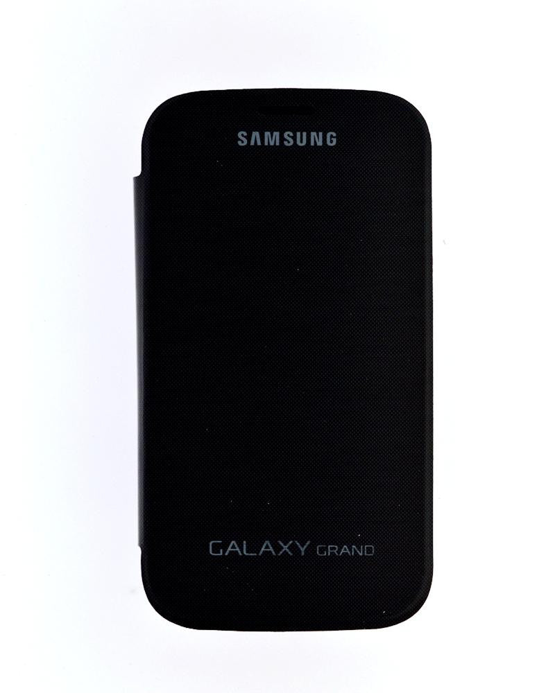 Flip Cover for Samsung Galaxy Grand Duos with Leather Look-BLACK