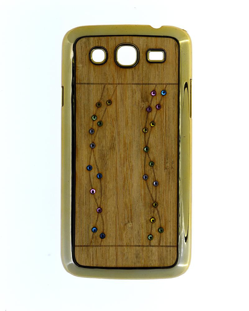 Wooden Finish Diamond Studded Mobile Covers for Samsung Galaxy Mega i9152