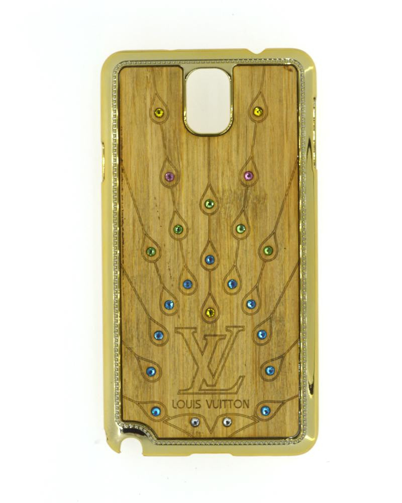Wooden Finish Diamond Studded Mobile Covers for Samsung Galaxy Note 3