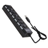 Hi Speed 7 Port USB 3.0 Hub with Individual On Off Switch | Mobilegear