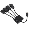 Mobilegear Micro USB OTG 3 Port Hub & Charge Cable