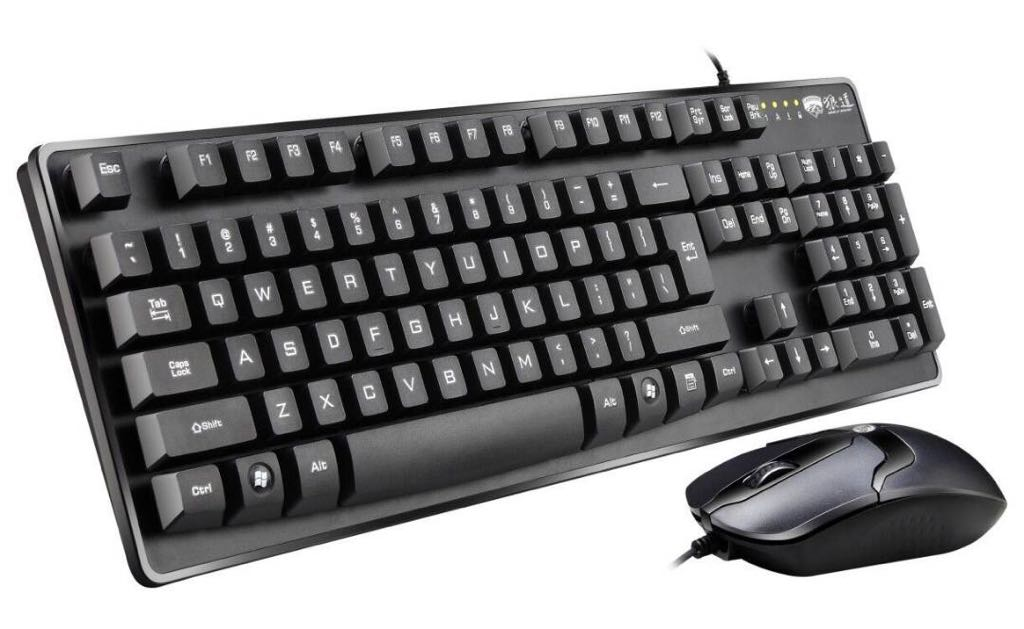 LANGDAO Wolfroad KM01 Set of keyboard and Mouse - Wired