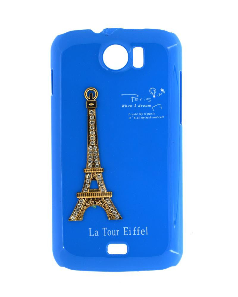 Eiffel Tower Mobile Cover for Micromax Canvas 2 A110 - BLUE