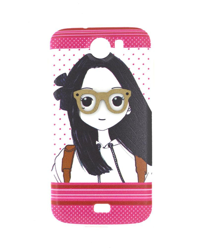 Nerdy Girl Design Mobile Cover for Canvas 2 A110