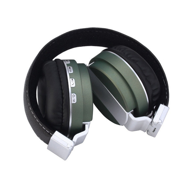 High Bass Metal Finish Wireless Bluetooth Headphone With FM Micro SD Card Slot & AUX Input