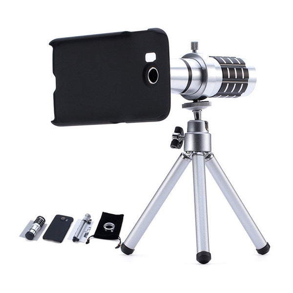 12X Optical Zoom Telescope Mobile Camera Lens Kit For Samsung S6