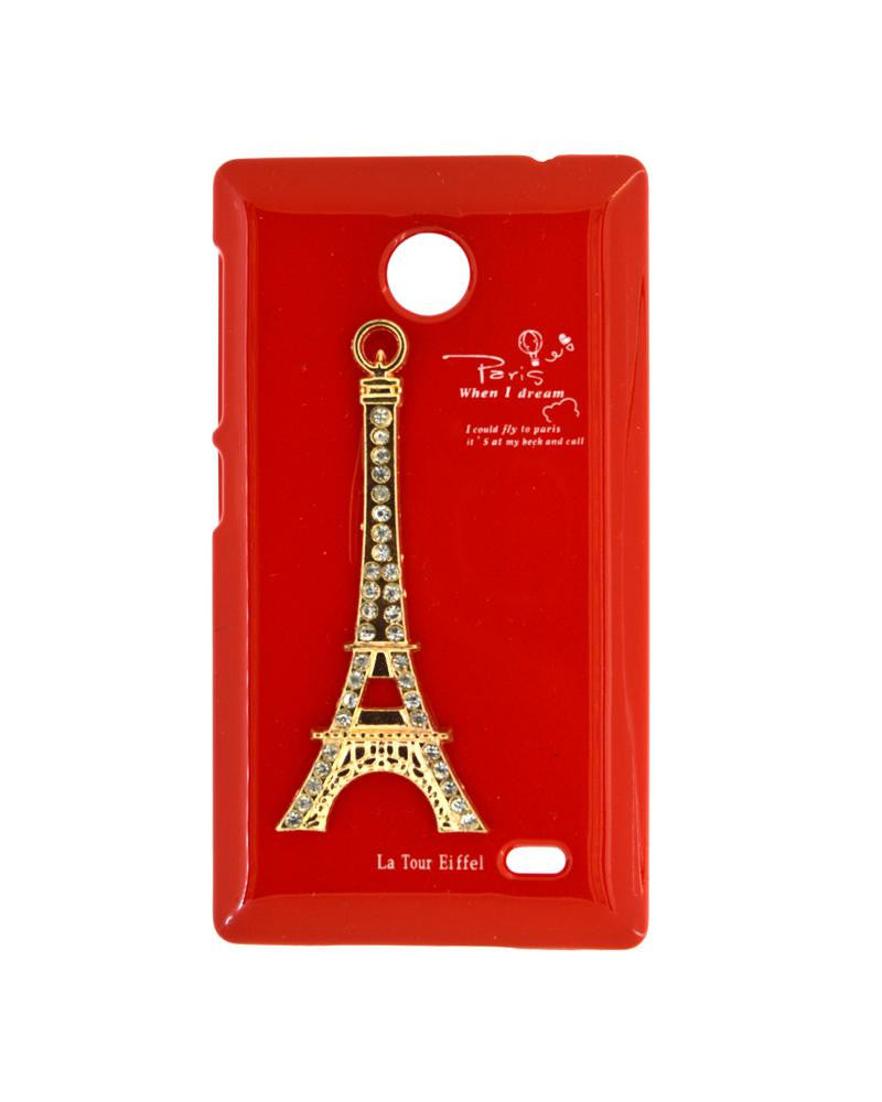 Eiffel Tower Mobile Cover for Nokia X - RED