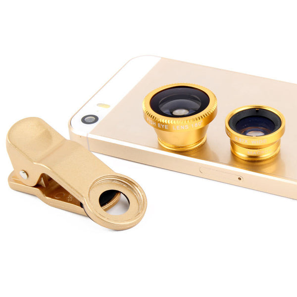 Universal 3 in 1 Mobile Camera Lens With Macro, Fisheye & Wide Angle for Smartphone Photography