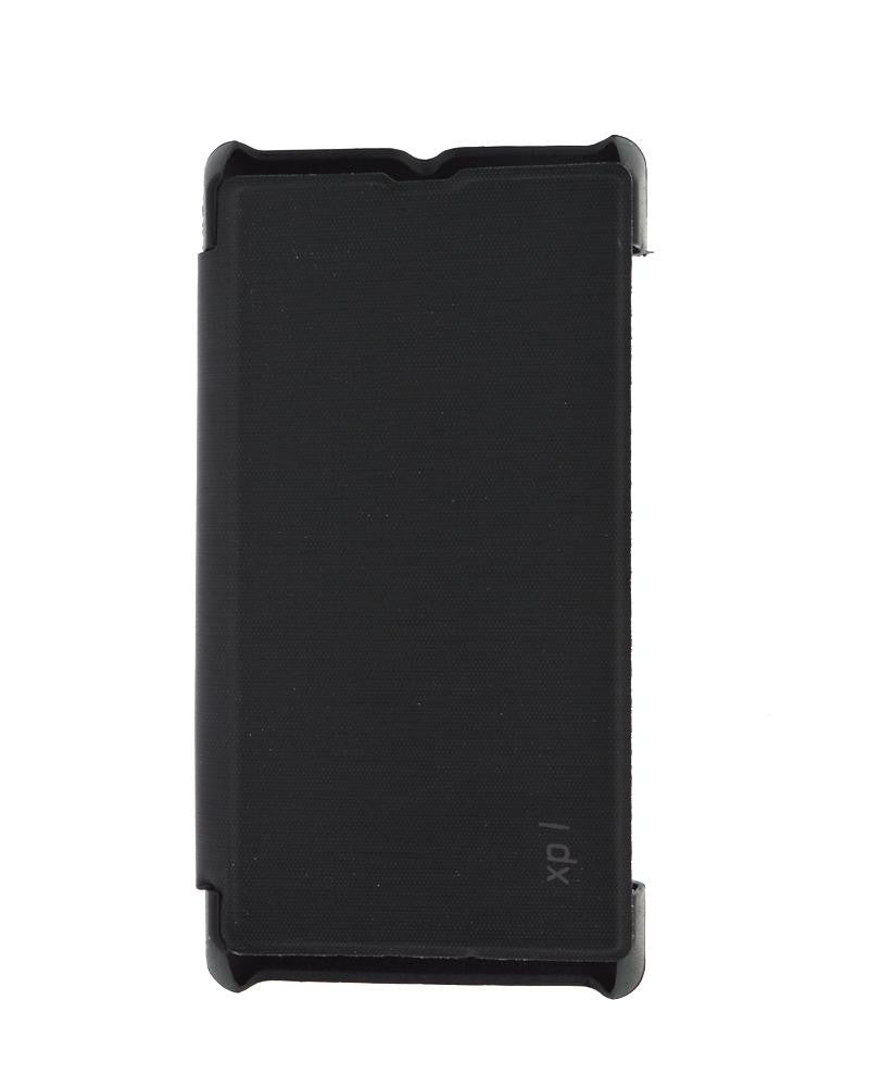 Mobile Cover - Minimalist Style Protection Flip Cover for Sony Xperia L With Leather Look