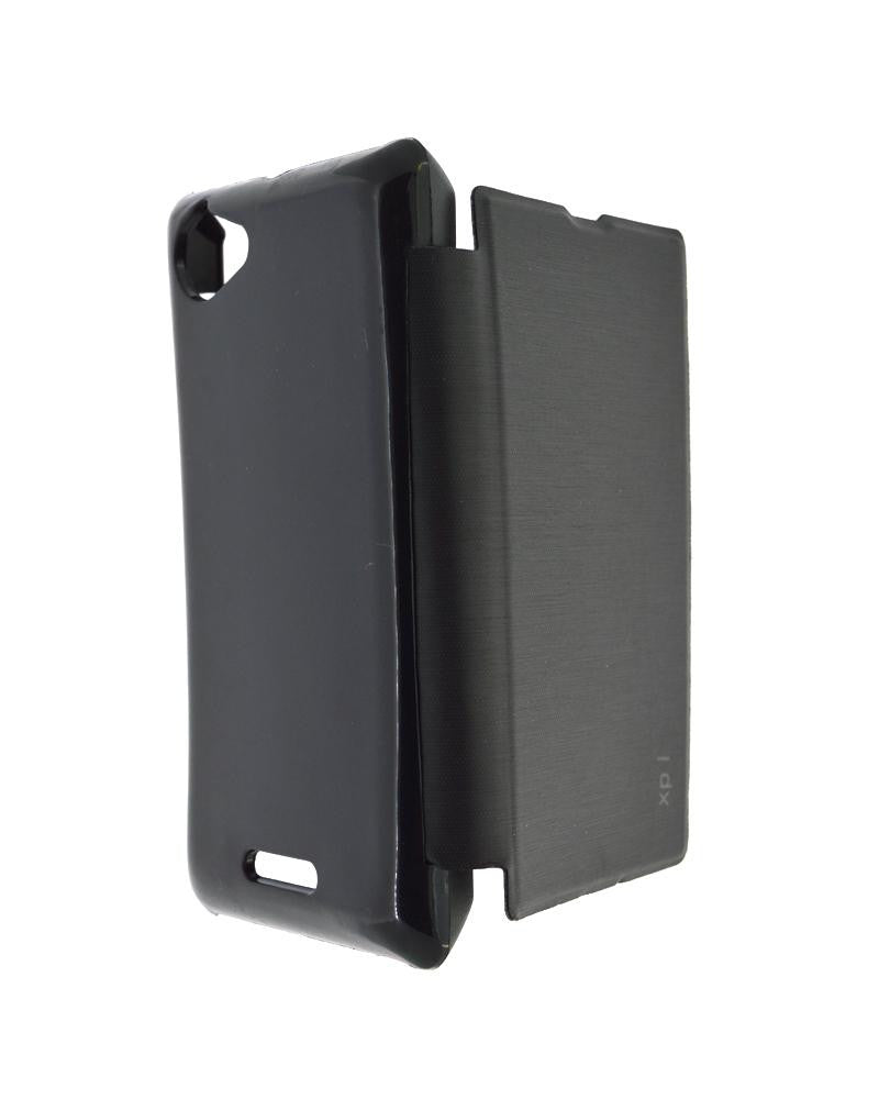 Mobile Cover   Minimalist Style Protection Flip Cover For Sony Xperia L  With Leather Look