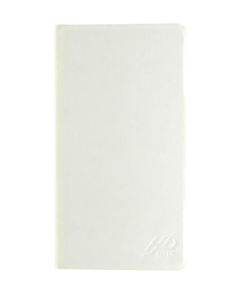 Latest Hot Luxury Leather Feel Mobile Flip Cover XL Size - WHITE