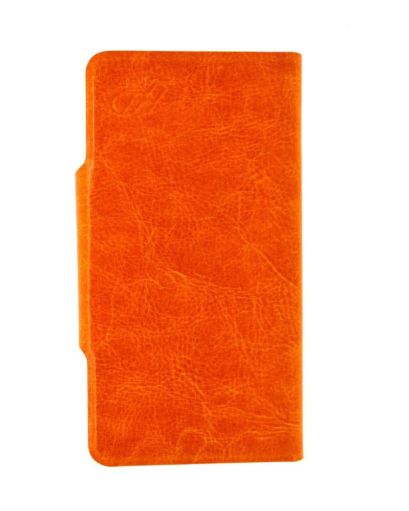 Latest Hot Luxury Leather Feel Mobile Flip Covers L Size - ORANGE