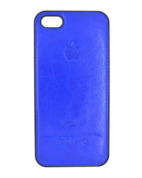 Designer Leather Look Mobile Cover - Back Cover for iPhone 5/5s - BLUE