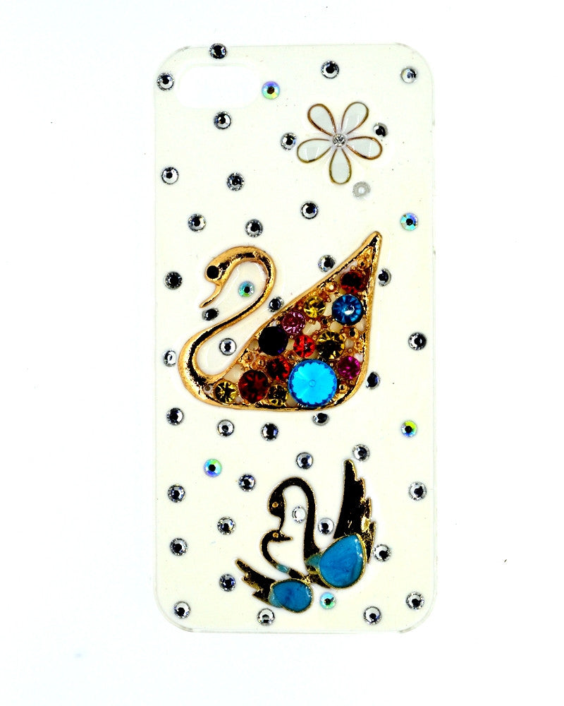 Jewel Design | Swan Glossy Mobile Cover - Back Cover for iPhone 5/5s