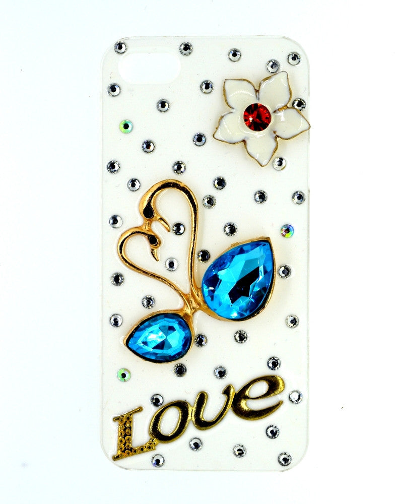 Jewel designed | Swan Love Design Glossy Mobile Cover for iPhone 5/5s
