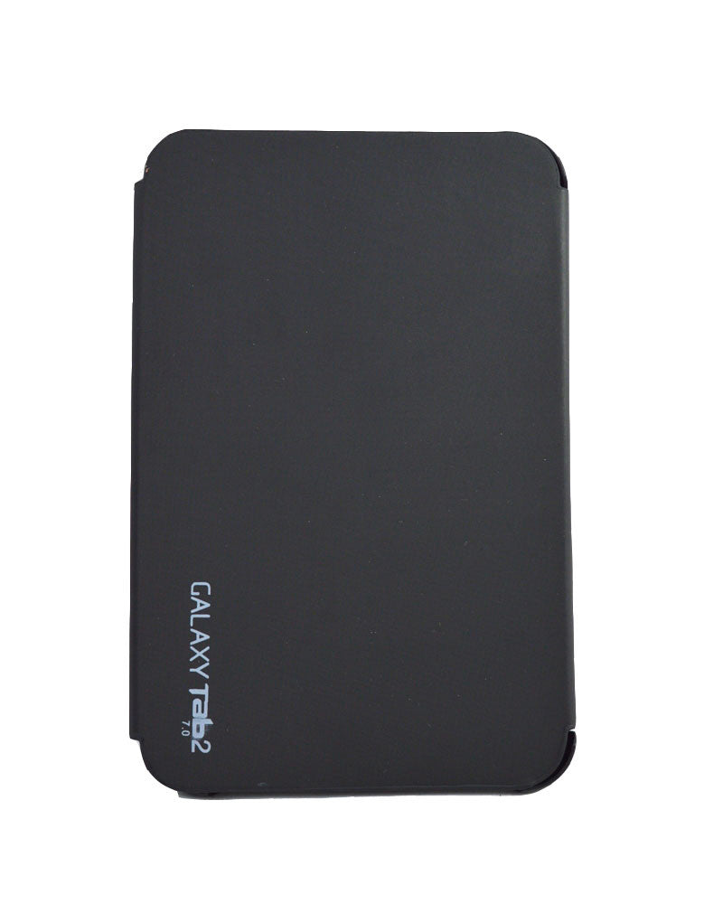 Tri-Fold Flip Book Stand Cover for Samsung Galaxy Tab 2-BLACK
