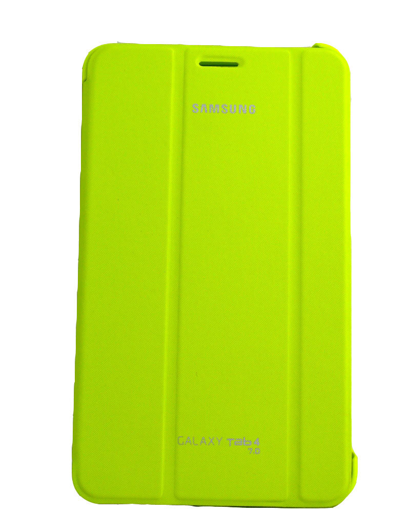 Tri-Fold Flip Book Stand Cover for Samsung Galaxy Tab 4-GREEN