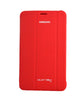 Tri-Fold Flip Book Stand Cover for Samsung Galaxy Tab 4-RED