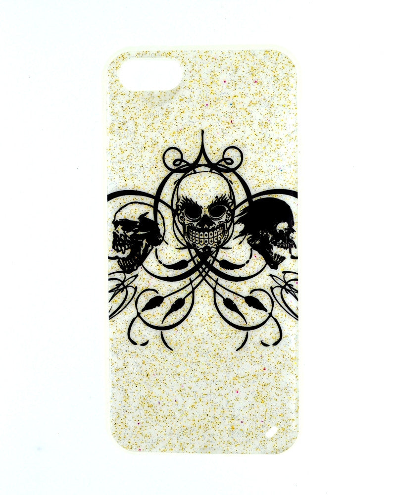 Skull Face Design Soft Silicone Rubber Mobile Cover for iPhone 5/5s