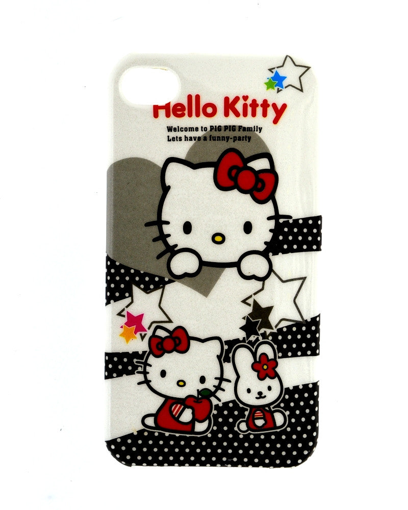 Hello Kitty Design Soft Rubber Mobile Cover for iPhone 4/4s