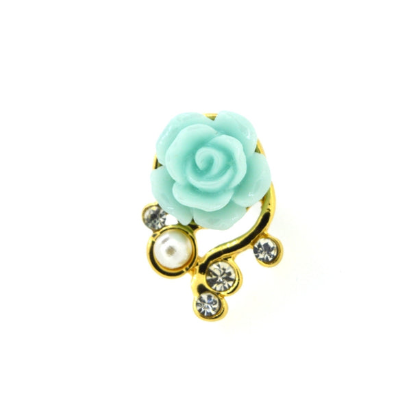Romantic Pearl Roses Dustproof Plug