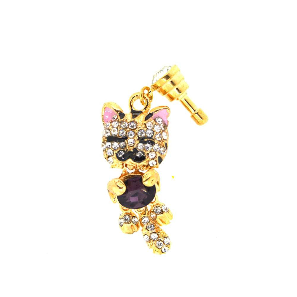 Diamond Studded Baby Cat Mobile Jewellery