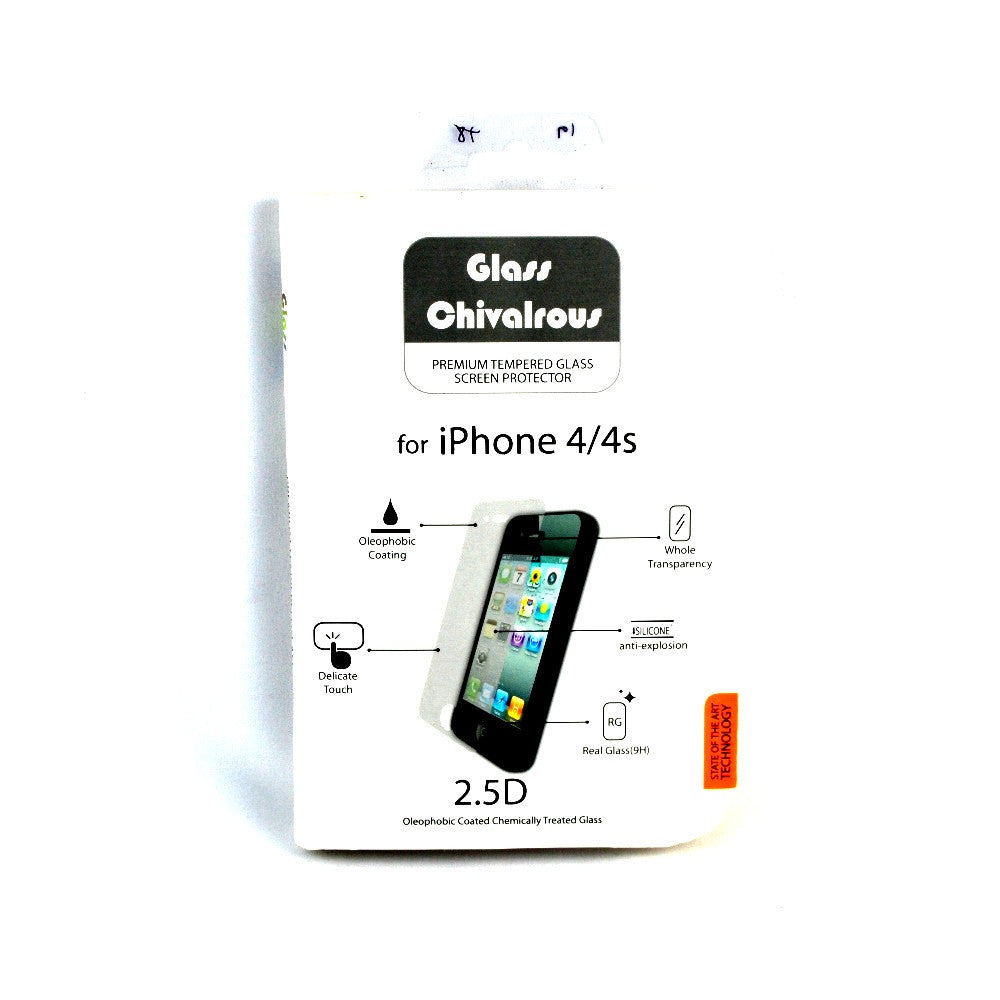 Premium Tempered Glass Screen Protector for iPhone 4/4S