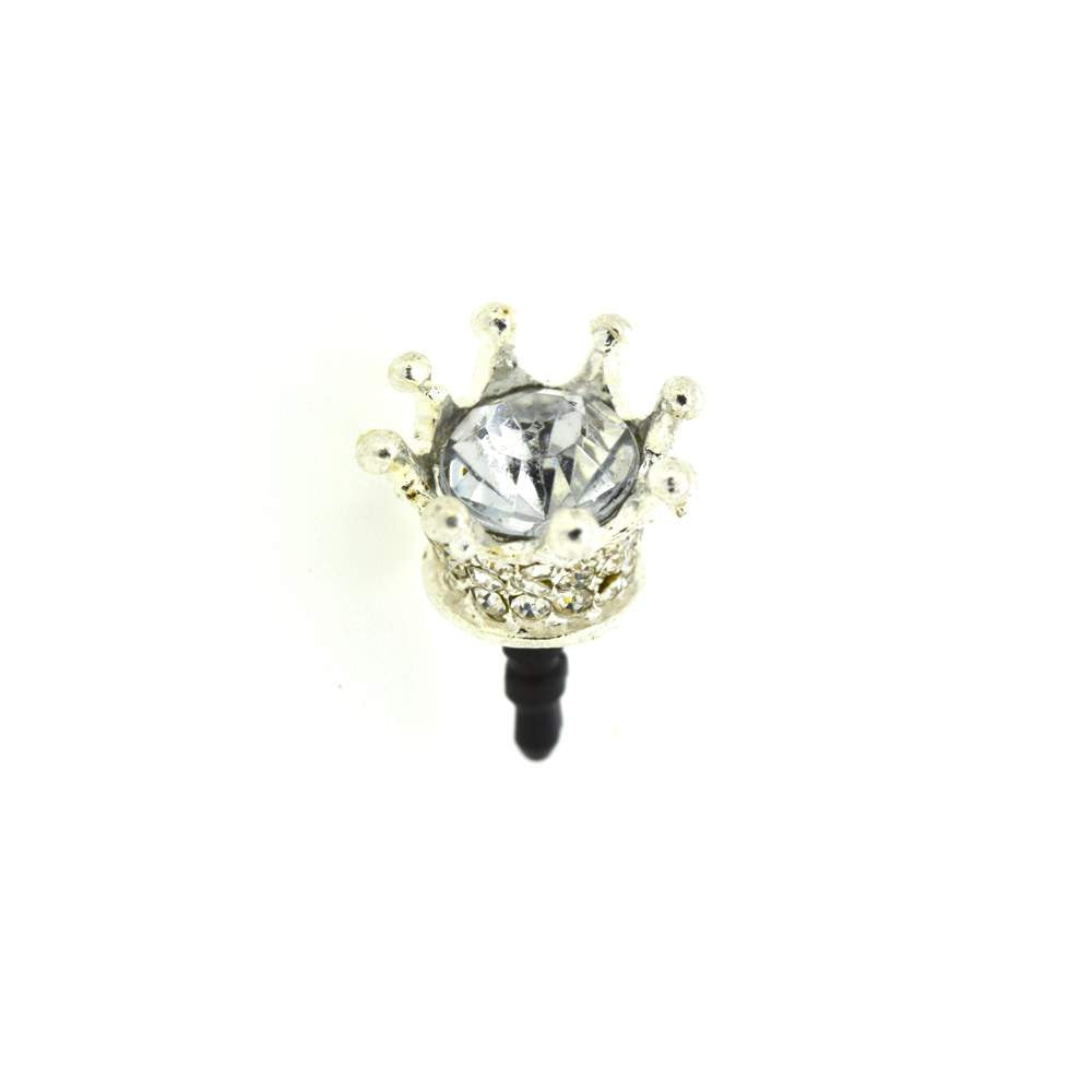 Queen Crown Shaped Diamond Studded Mobile Dust Plug
