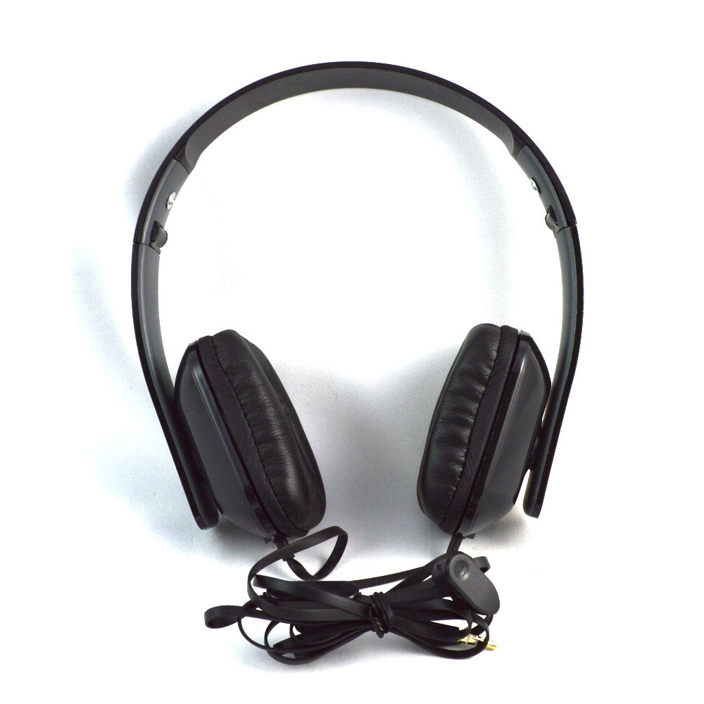 LANGSTON High Bass Foldable Stereo Headset with Microphone HF-8-BLACK