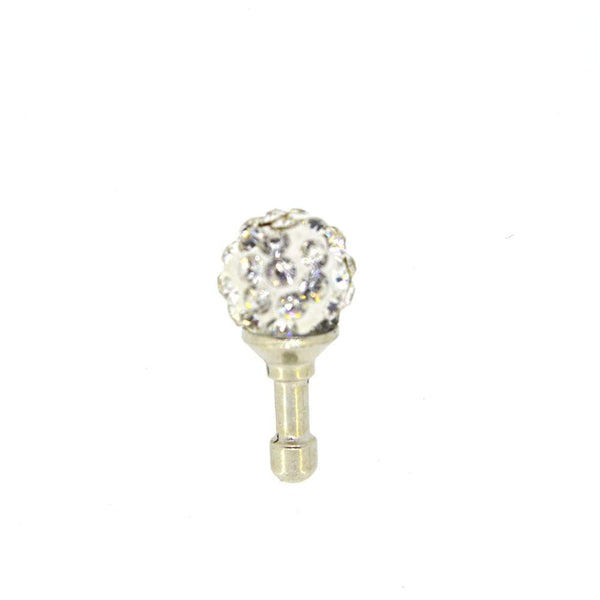 Small Bulb Shaped With Diamond Studded Mobile Dust Plug