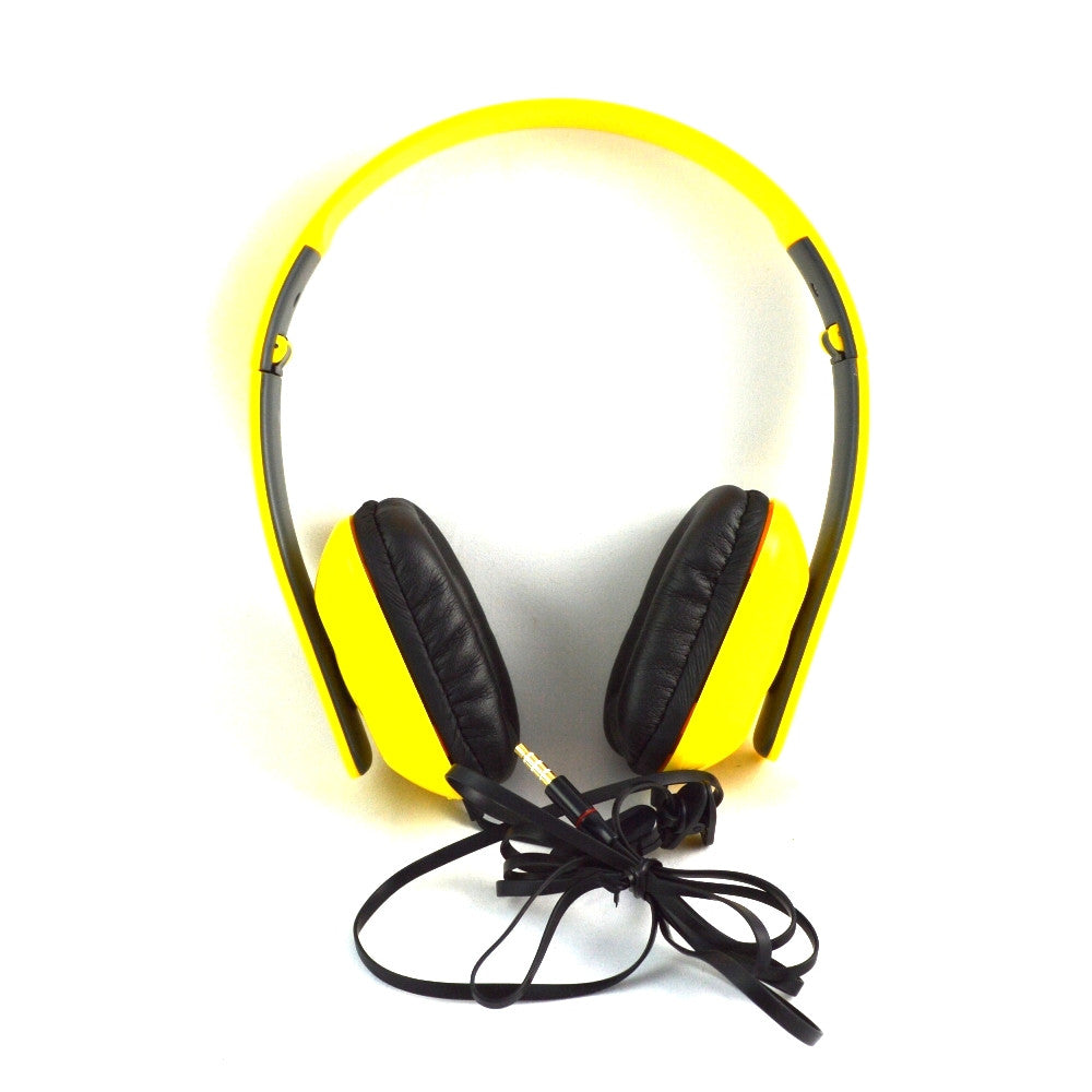 LANGSTON High Bass Foldable Stereo Headset with Microphone HF-8-YELLOW