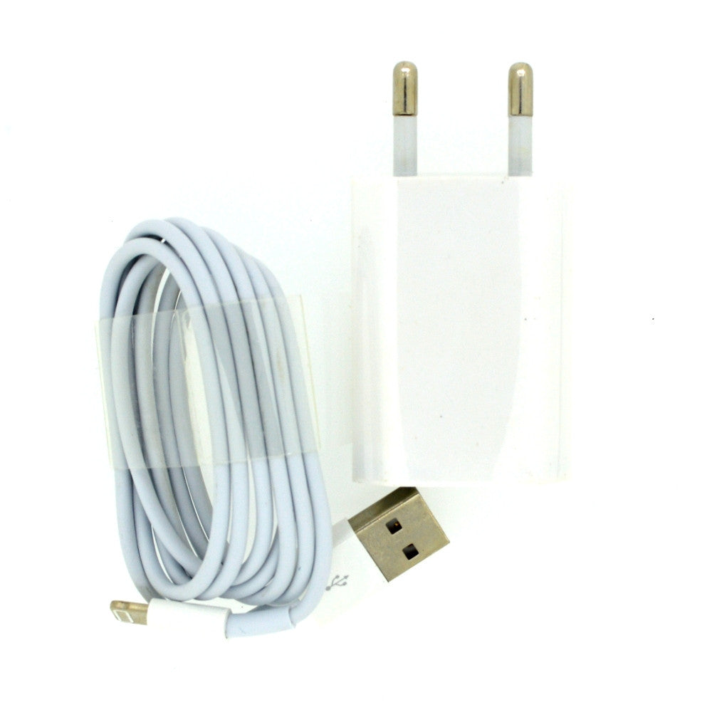 Mobile Charger cum USB Power Adapter for Apple with USB cable